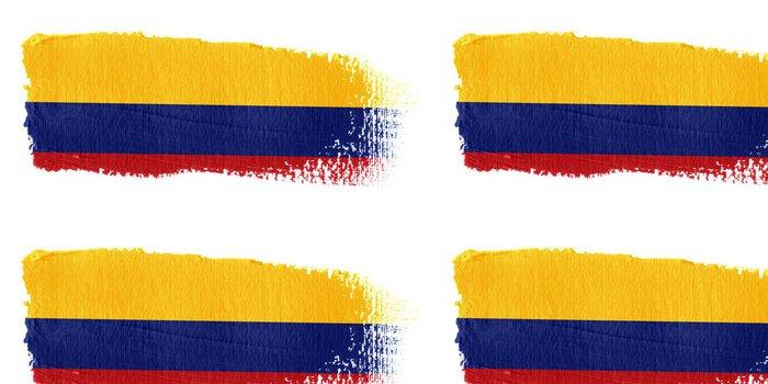 Tapeta Pixerstick Vlajka Kolumbie - Amerika