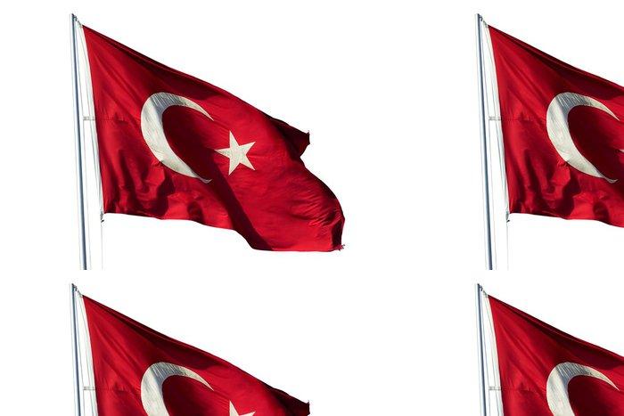 Tapeta Pixerstick Vlajka Turecka - Asie