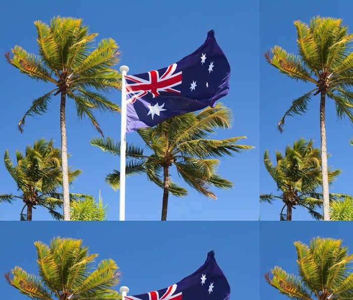 Tapeta Pixerstick Vlajka v tropické Austrálii s palmami - Prázdniny