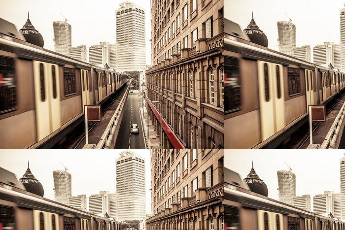 Tapeta Pixerstick Vlak metra v Kuala Lumpur Malajsie - Železnice