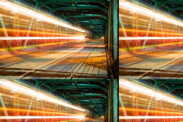 Tapeta Pixerstick Vlak rychlost na mostě ve Varšavě - Témata