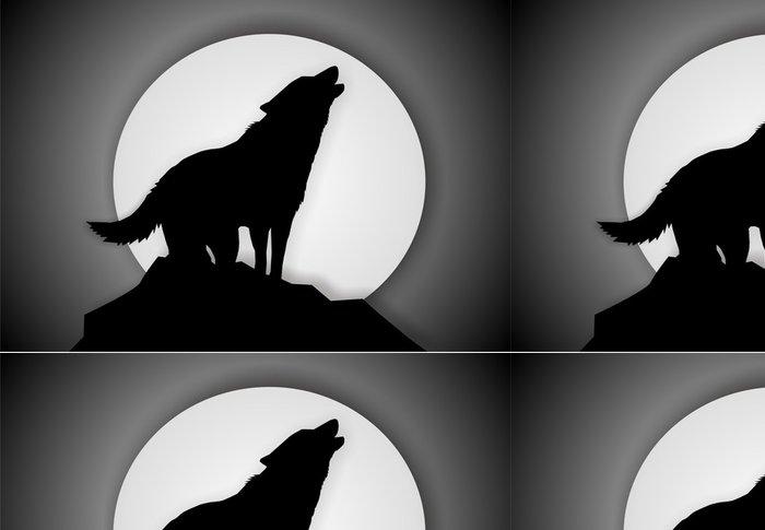 Tapeta Pixerstick Vlk ilustrace - Témata
