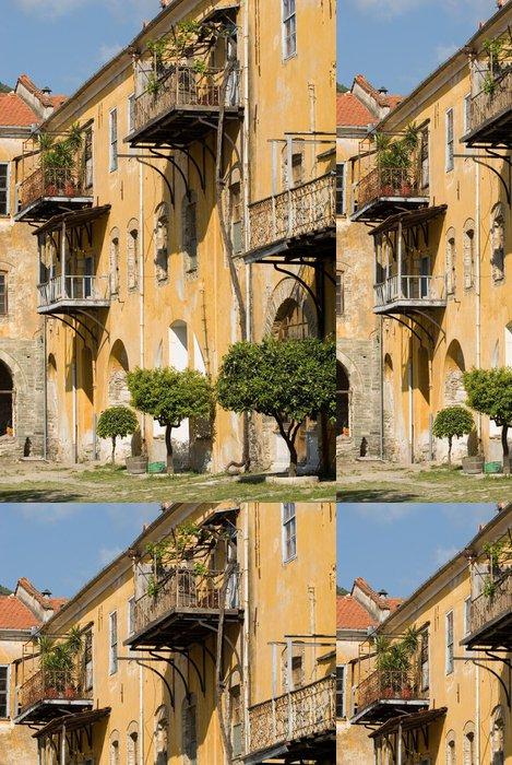 Tapeta Pixerstick Vnitřní pohled, Iviron klášter, hora Athos, Chalkidiki, Řecko - Evropa