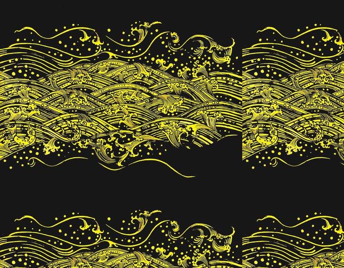 Vinylová Tapeta Voda vzor izolovaných na bílém pozadí - Pozadí