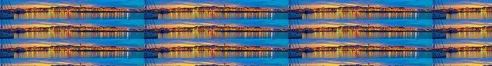 Tapeta Pixerstick Vodice nábřeží colorfu večerní panorama - Město