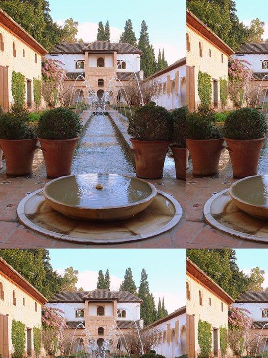 Tapeta Pixerstick Vodní fontány ve formální zahradě - Evropa