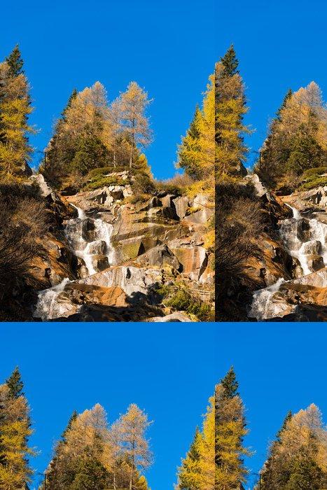 Tapeta Pixerstick Vodopád - Adamello Trento Itálie - Voda