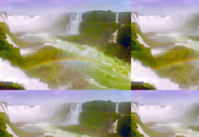 Tapeta Pixerstick Vodopád Duha - Přírodní krásy