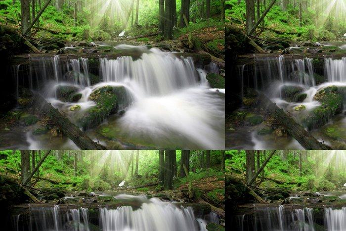Tapeta Pixerstick Vodopád v národním parku Šumava - Voda