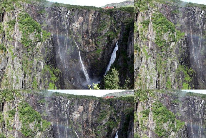Tapeta Pixerstick Vodopád Vøringsfossen - čtvrtá nejvyšší vrchol v Norsku - Venkov
