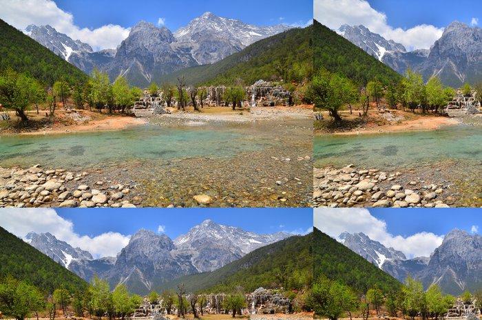 Tapeta Pixerstick Vodopády Alpine Mountain - Voda