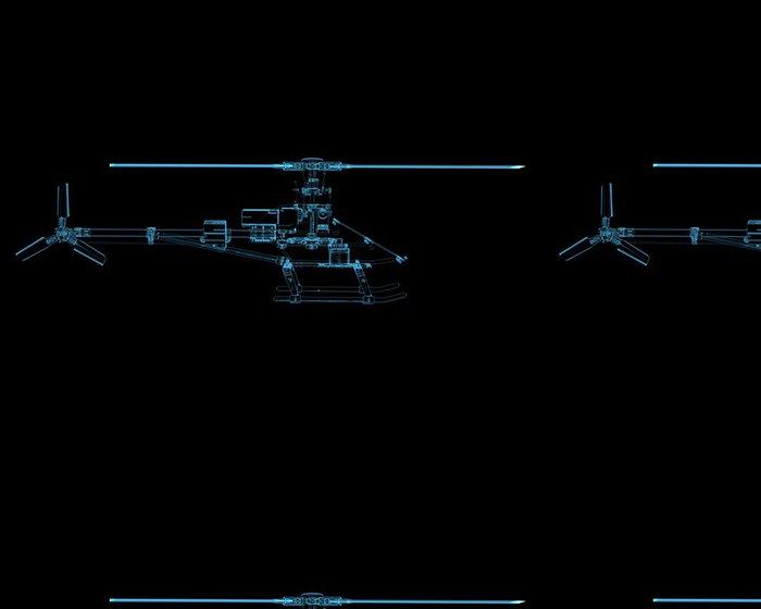 Tapeta Pixerstick Vrtulník izolovaných na černém - Značky a symboly