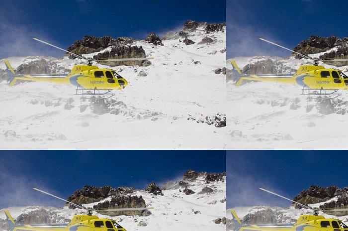 Tapeta Pixerstick Vrtulník na hoře - Ostatní Ostatní