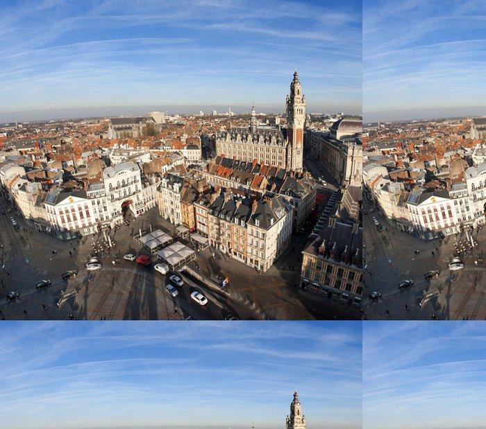 Tapeta Pixerstick Vue aérienne du centrum ville de Lille - Evropa
