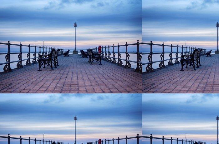 Tapeta Pixerstick Východ slunce na Banjo Pier v Swanage - Témata