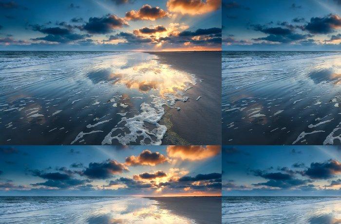 Vinylová Tapeta Východ slunce nad Pobřeží Severního moře - Nebe