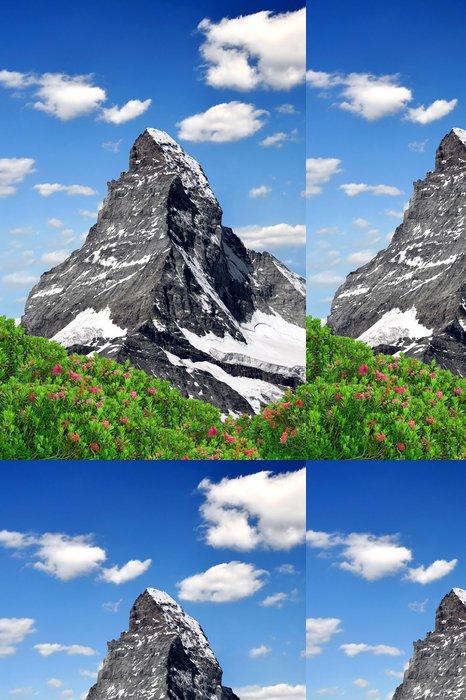 Tapeta Pixerstick Výhled na Matterhorn - Švýcarské Alpy - Evropa