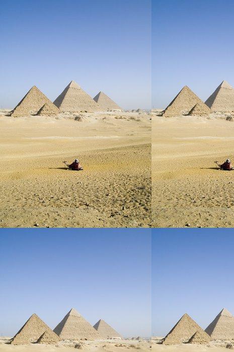 Tapeta Pixerstick Vzdálené pyramidy - Památky