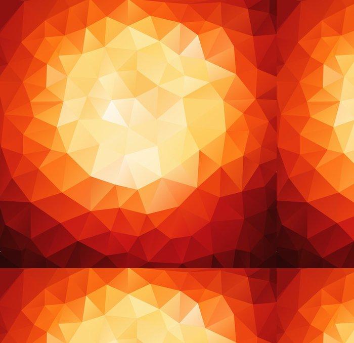 Vinylová Tapeta Vzor geometrických tvarů. Červené pozadí s trojúhelníky. - Umění a tvorba
