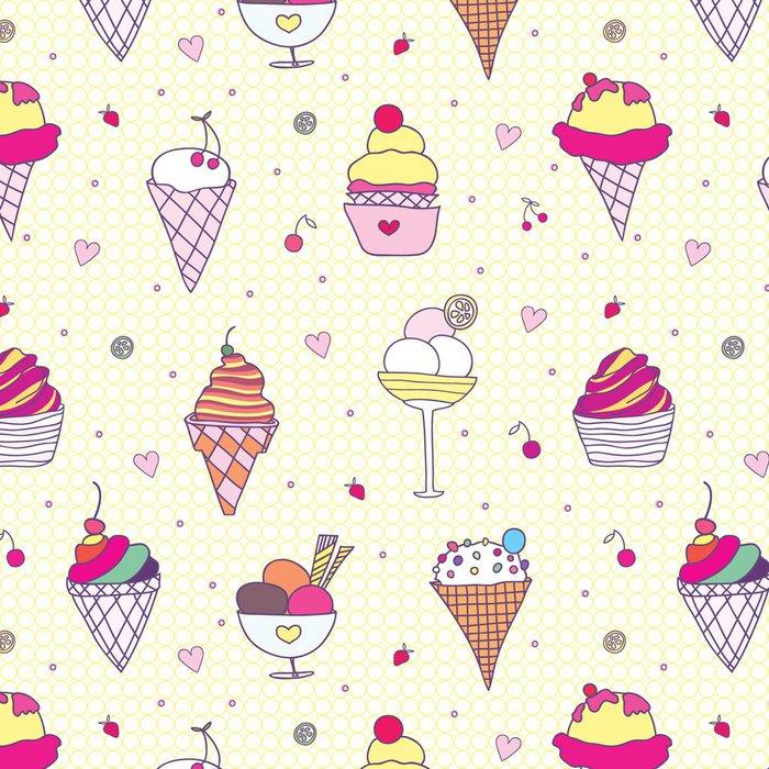Tapeta Pixerstick Vzor zmrzlina - Štěstí