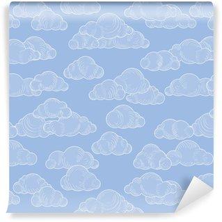 Vinylová Tapeta Vzorek oblačnosti. zamračená obloha bezproblémové pozadí