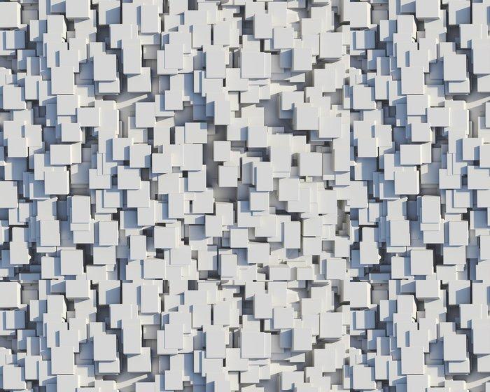 Vinylová Tapeta Wall bílých kostek - Abstraktní