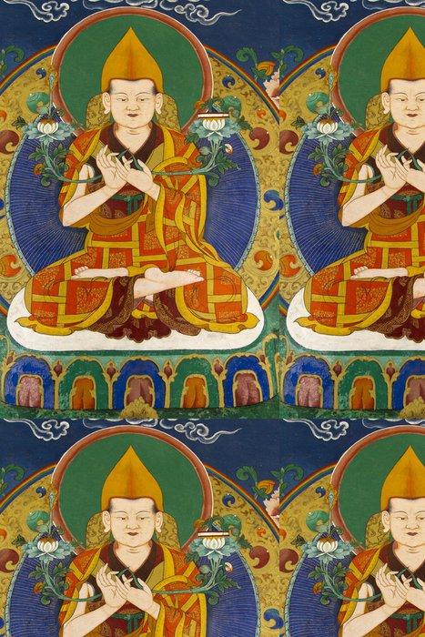 Tapeta Pixerstick Wandmalerei v einem Kloster v Ladaku, Indien - Asie