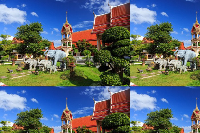 Vinylová Tapeta Wat Chalong chrám na slunečný den Phuket Thajsko - Náboženství