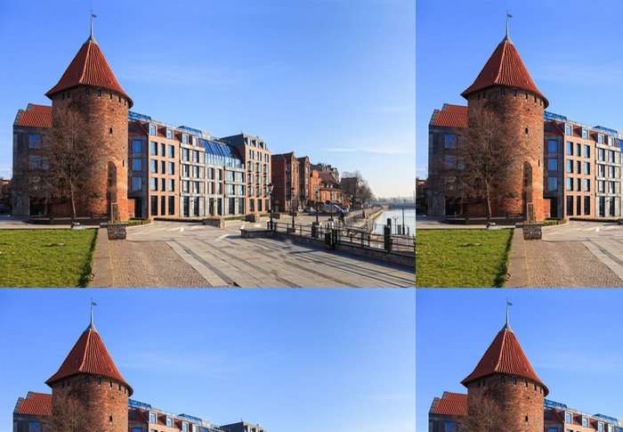 Tapeta Pixerstick Waterfront Motlawa v polském Gdaňsku. - Evropa