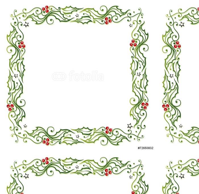 Tapeta Pixerstick Weihnachten, Rahmen, Stechpalme, Ilix - Mezinárodní svátky