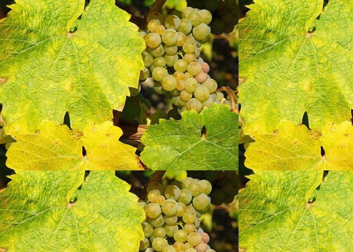 Tapeta Pixerstick Weinblätter mit Weintrauben - Alkohol