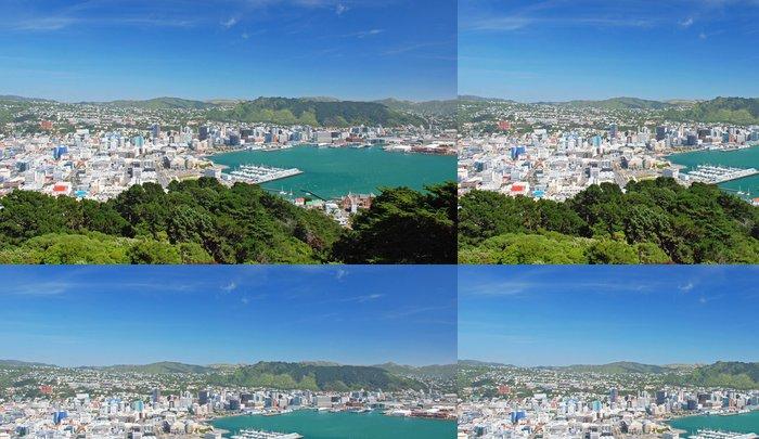 Tapeta Pixerstick Wellington, hlavní město Nového Zélandu - Oceánie