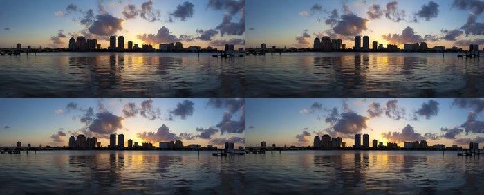 Tapeta Pixerstick West Palm Beach, Florida, USA západ slunce nad mezižeberní - Amerika