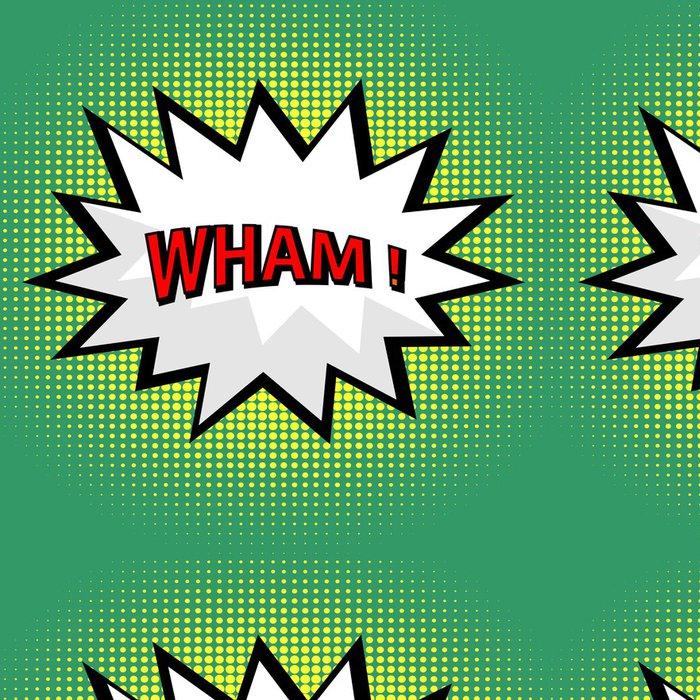 Vinylová Tapeta Wham! komiks mrak stylu pop art - Témata