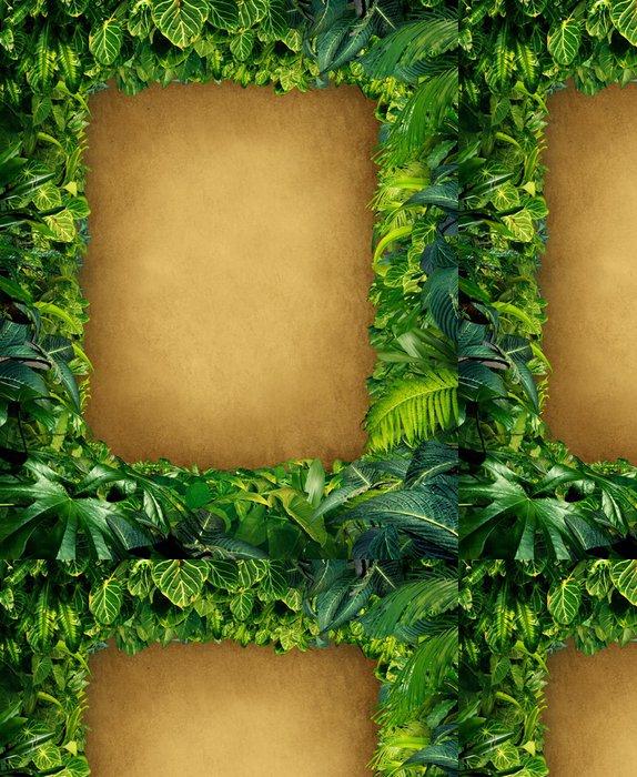 Tapeta Pixerstick Wild Jungle Frame - Rostliny