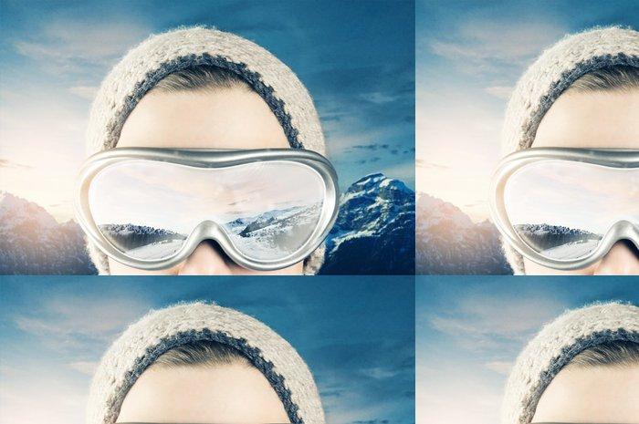Vinylová Tapeta Wintersports - Zimní sporty