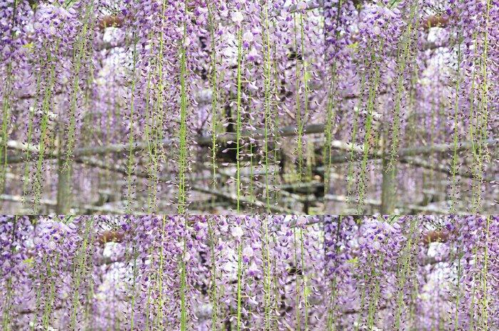 Tapeta Pixerstick Wisteria mřížoví - Květiny