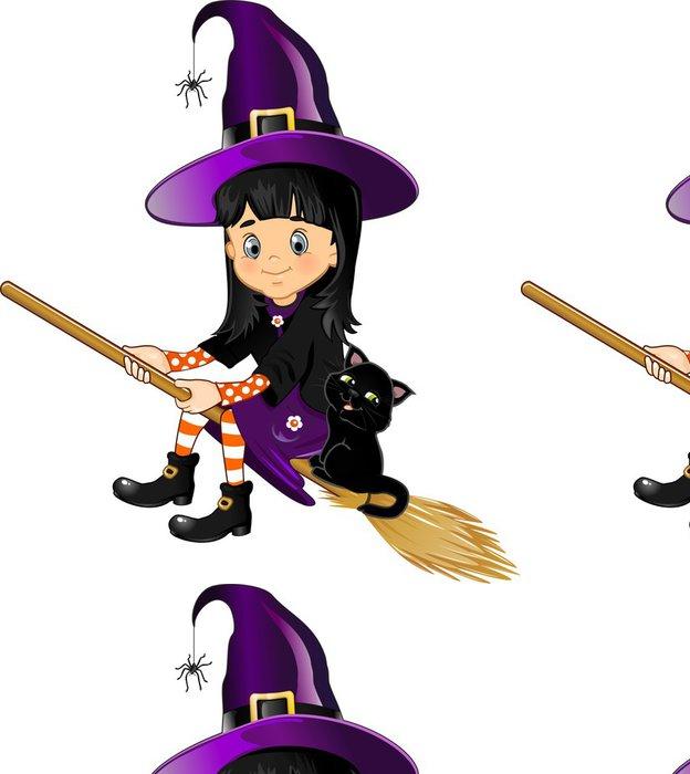 Tapeta Pixerstick Witch létání holku - Nálepka na stěny