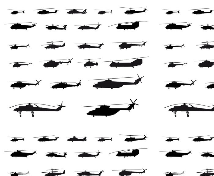 Tapeta Pixerstick World of vrtulníků - Vzduch