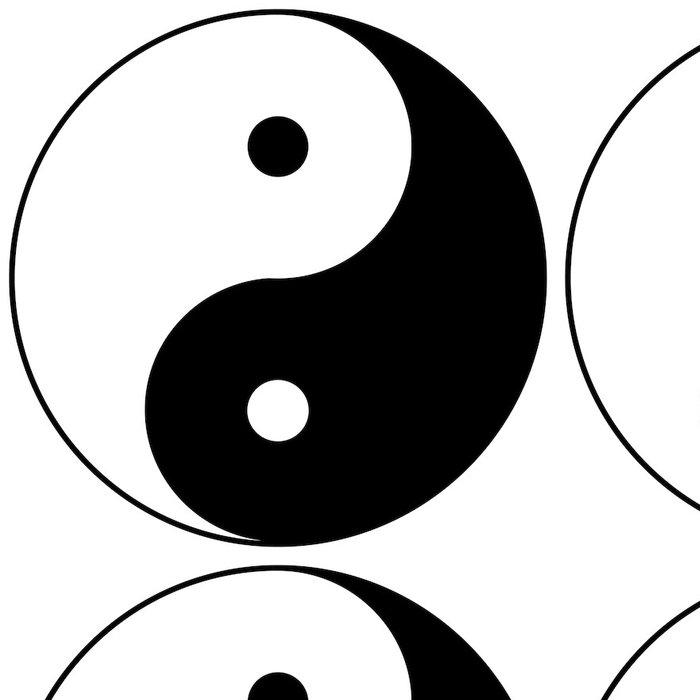 Tapeta Pixerstick Yin yang - Značky a symboly