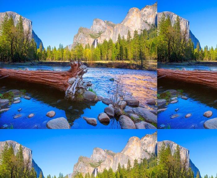 Tapeta Pixerstick Yosemite Merced River El Capitan a Half Dome - Témata