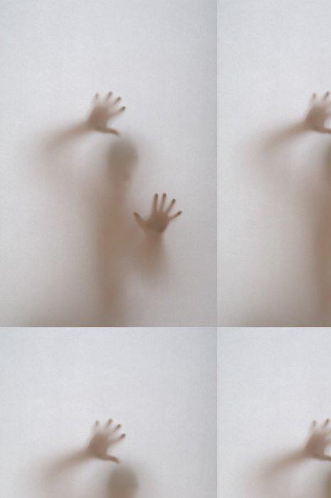 Tapeta Pixerstick Za oknem s obskurní skla - Život
