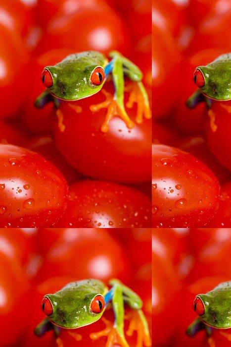 Tapeta Pixerstick Žába na rajčatech - Ostatní Ostatní