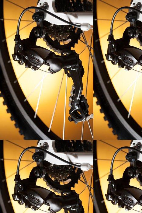 Tapeta Pixerstick Zadní kolo kazeta na kole s řetízkem - Na cestě