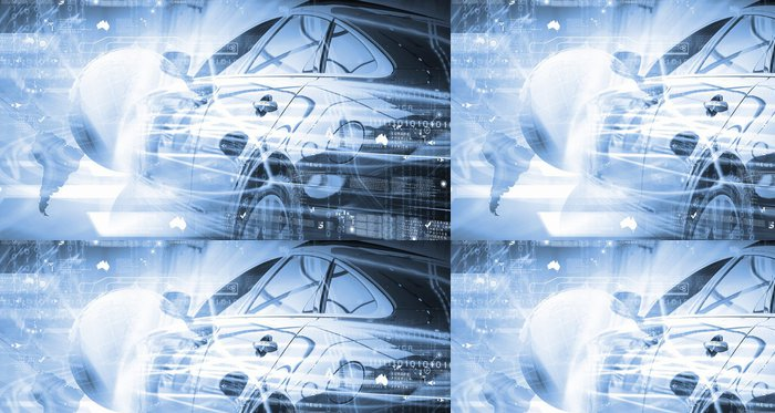 Tapeta Pixerstick Zadní pohled na luxusní auta - Infrastruktura