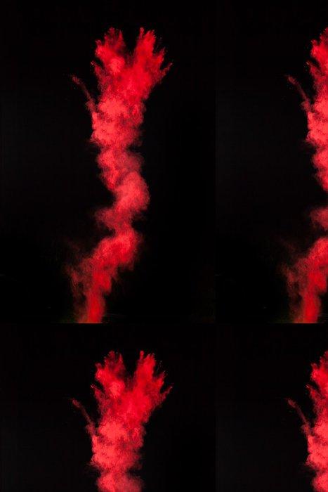 Vinylová Tapeta Zahájila barevný prášek na černém - Pozadí
