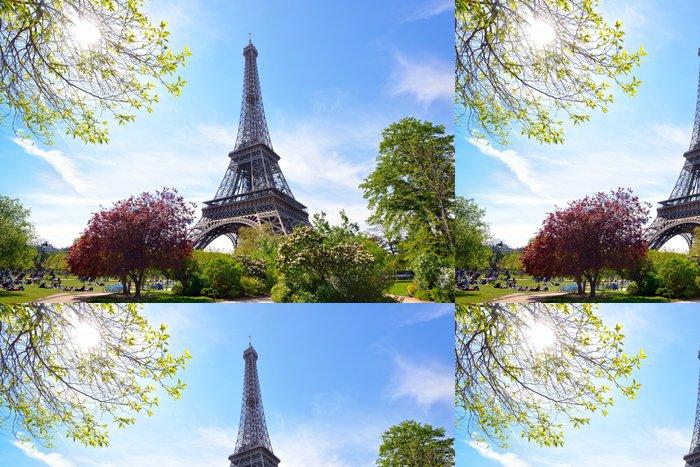 Tapeta Pixerstick Zahrady na Eiffelovu věž - Evropská města