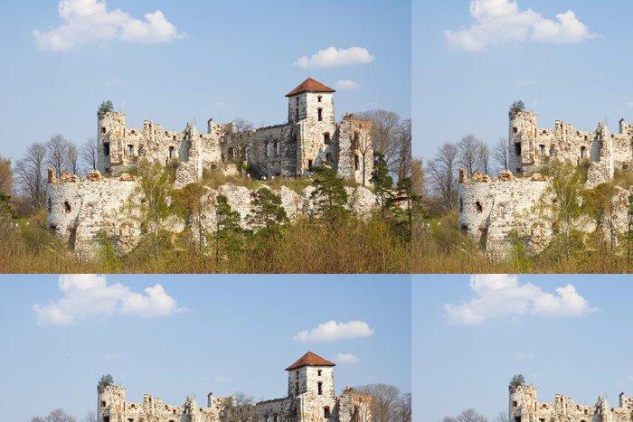 Vinylová Tapeta Zámek Rudno - Polsko. Středověká tvrz v regionu Jura - Evropa