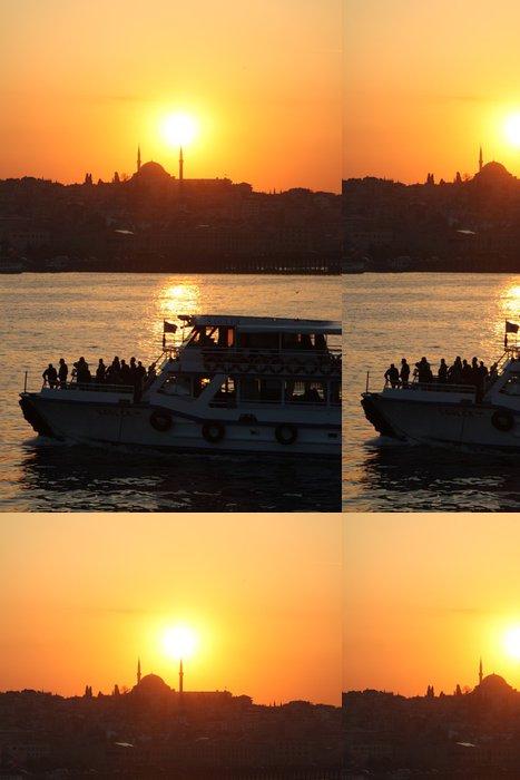 Tapeta Pixerstick Západ slunce a člun - Evropa