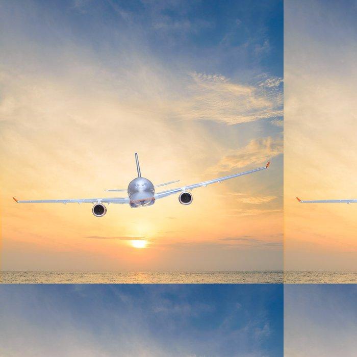 Tapeta Pixerstick Západ slunce letadlo - Prázdniny